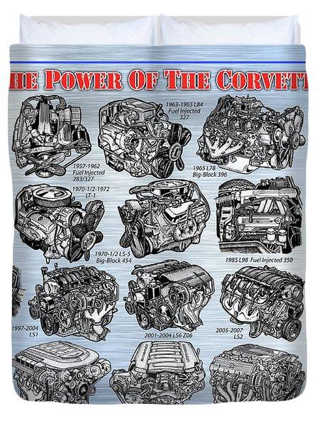 Eng-19_corvette-engines Duvet Cover