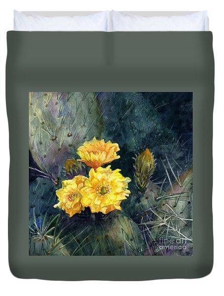 Engelmann Prickly Pear Cactus Duvet Cover