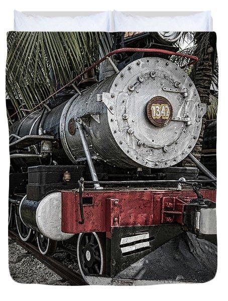 Engine 1342 Parked Duvet Cover