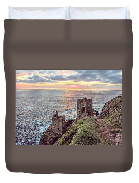 Engine Houses At Crown Mines Duvet Cover