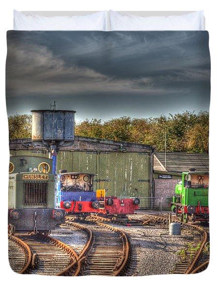 Engine Sheds Quainton Road Buckinghamshire Railway Duvet Cover by Chris Thaxter