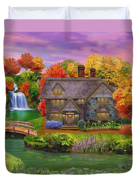 England Country Autumn Duvet Cover