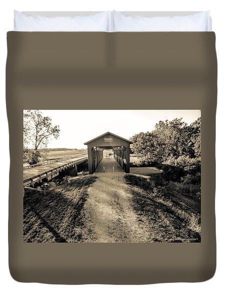 Engle Mill Covered Bridge Duvet Cover