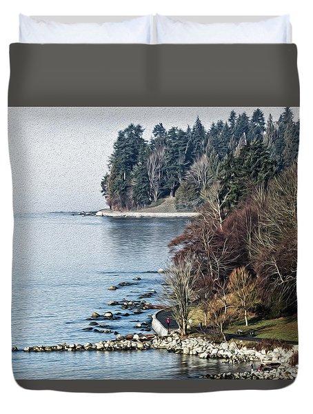 English Bay Shore Duvet Cover