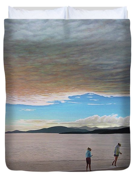 English Bay Vancouver Duvet Cover