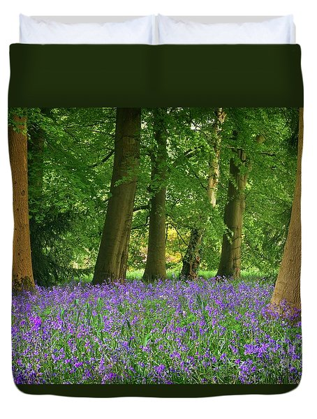 English Bluebell Woodland Duvet Cover
