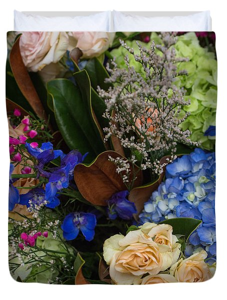 Duvet Cover featuring the photograph English Bouquet by Julie Andel