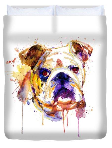 English Bulldog Head Duvet Cover