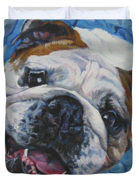 English Bulldog Duvet Cover by Lee Ann Shepard