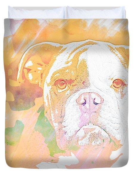 English Bulldog Wc Duvet Cover