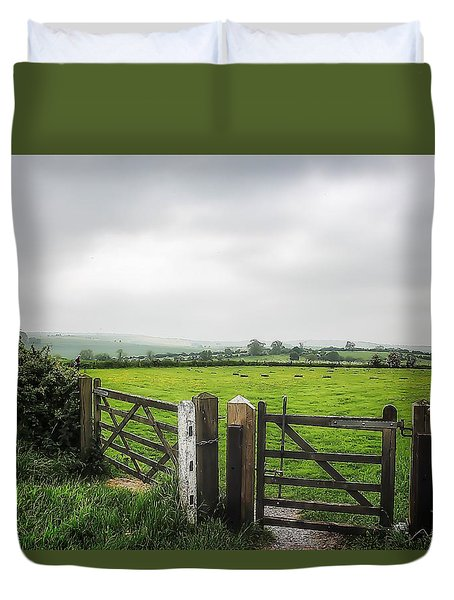English Country Landscape 1 Duvet Cover by Wallaroo Images