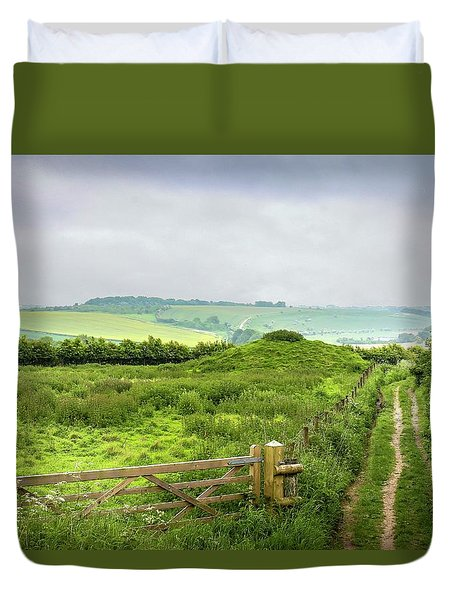 English Country Landscape 2 Duvet Cover by Wallaroo Images