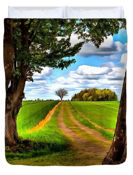 English Country Lane Duvet Cover