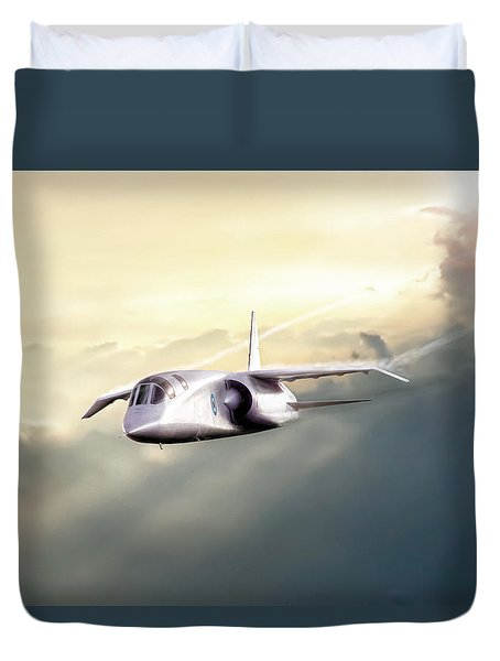 Duvet Cover featuring the digital art English Enigma by Peter Chilelli