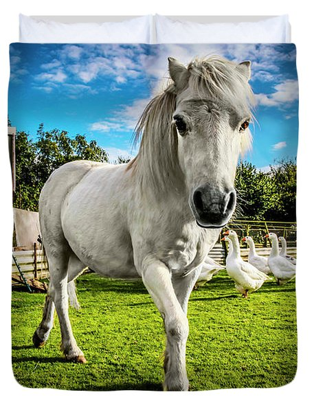 English Gypsy Horse Duvet Cover