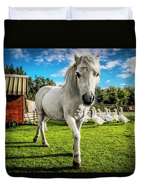 English Gypsy Horse Duvet Cover