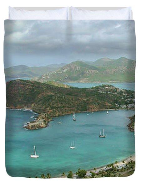 English Harbour Antigua Duvet Cover by John Edwards