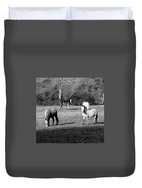 English Horses Duvet Cover