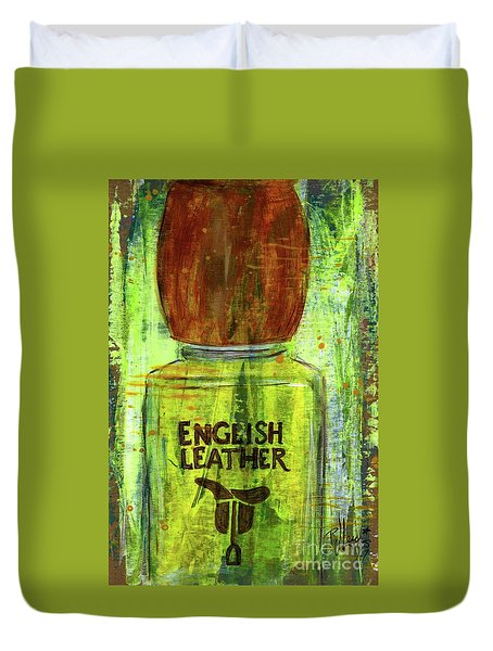 Duvet Cover featuring the painting English Leather by P J Lewis