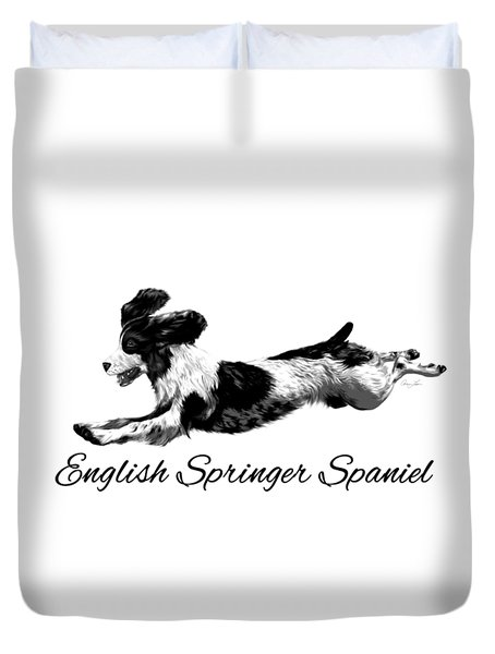English Springer Spaniel Duvet Cover by Ann Lauwers