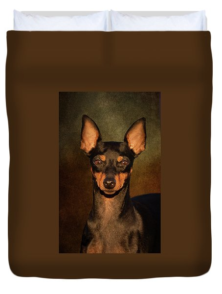English Toy Terrier Duvet Cover
