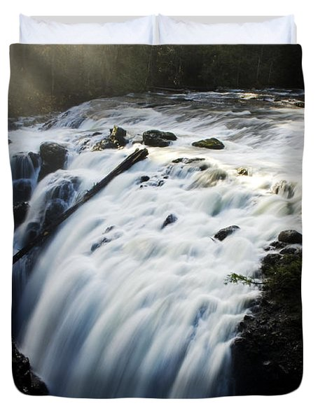 Englishman Falls Duvet Cover by Bob Christopher
