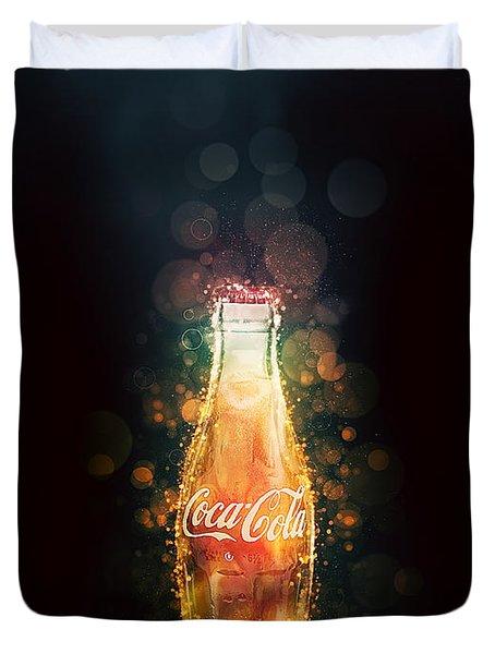 Enjoy Coca-cola With Bubbles Duvet Cover