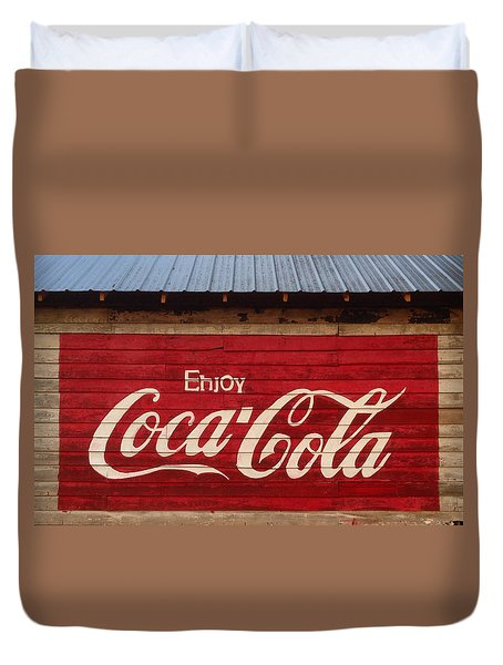 Enjoy Coke Duvet Cover