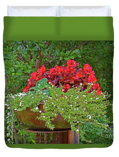 Enjoy The Garden Duvet Cover by Ray Shrewsberry