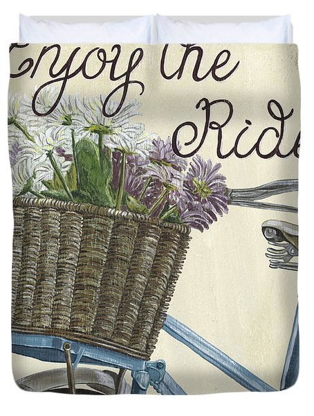 Enjoy The Ride Vintage Duvet Cover
