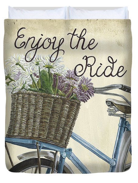 Enjoy The Ride Vintage Duvet Cover