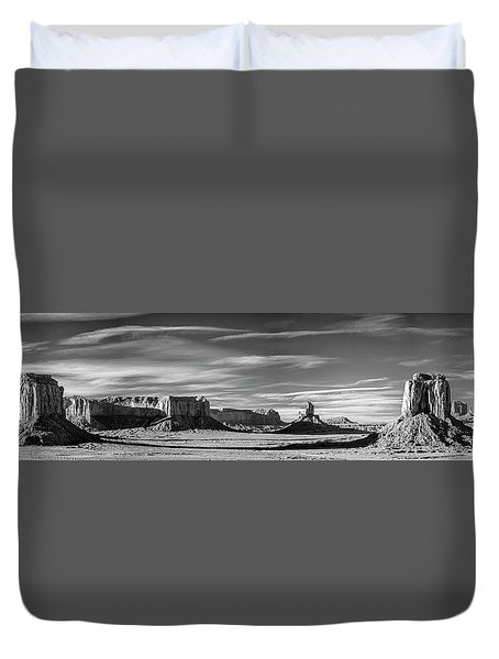 Duvet Cover featuring the photograph Enjoying The Calm by Jon Glaser