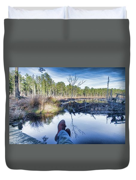 Enjoying The View Duvet Cover