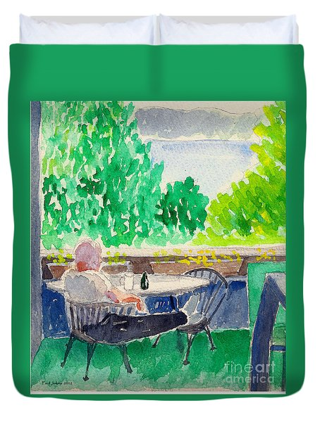 Enjoying The View-detail Duvet Cover