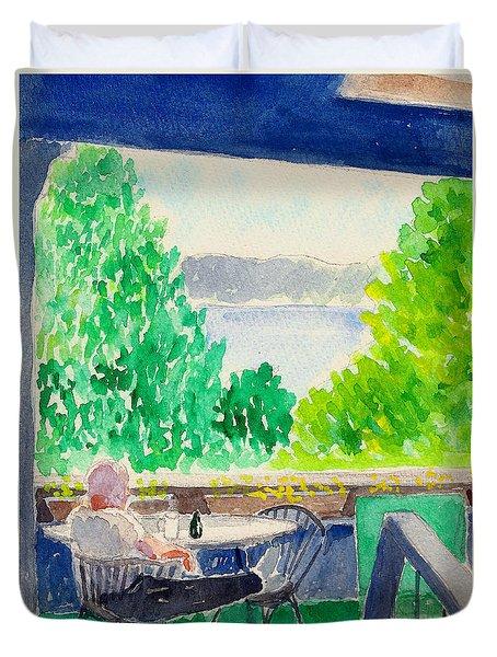 Enjoying The View Duvet Cover
