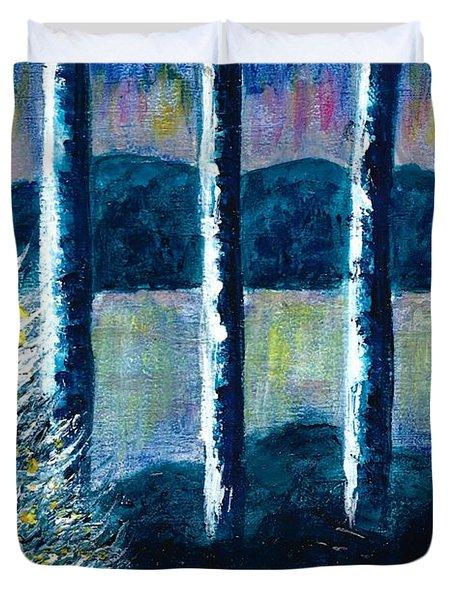 Enlightened Forest  Duvet Cover