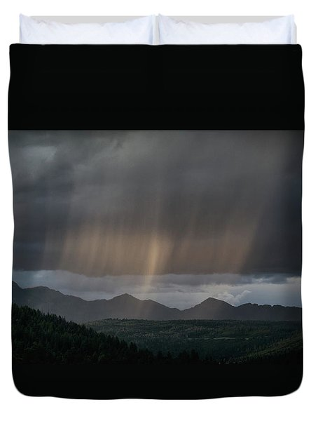 Enlightened Shafts Duvet Cover