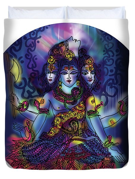 Enlightened Shiva Duvet Cover