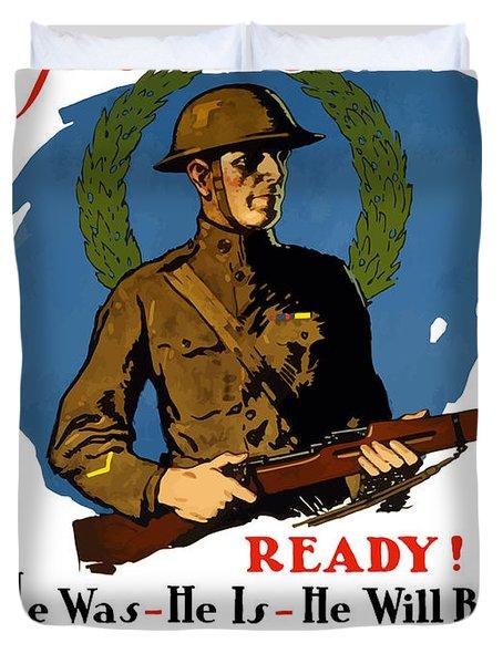 The Regular - Enlist For The Infantry Duvet Cover