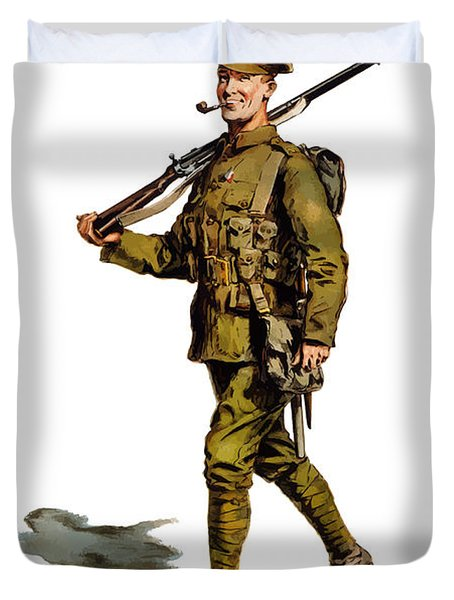 Enlist To-day - World War 1 Duvet Cover