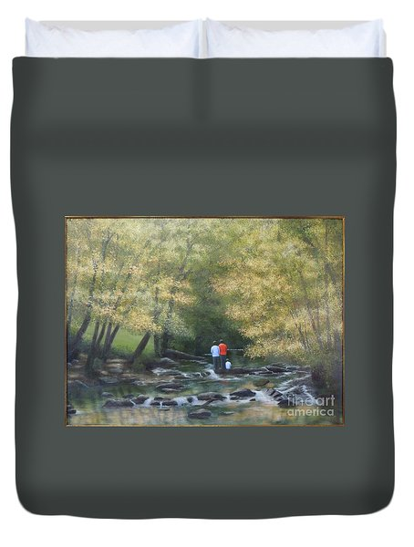 Eno River Afternoon Duvet Cover