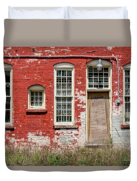 Duvet Cover featuring the photograph Enough Windows by Christopher Holmes