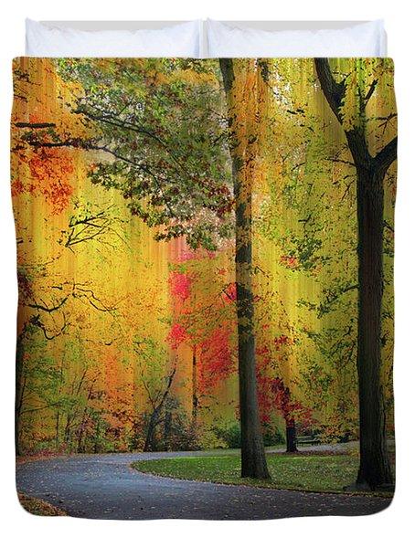 Ensconced In Autumn Duvet Cover