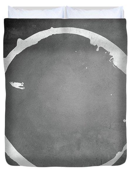 Duvet Cover featuring the digital art Enso 2017-16 by Julie Niemela