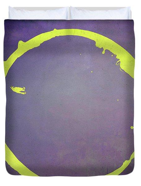 Duvet Cover featuring the digital art Enso 2017-5 by Julie Niemela