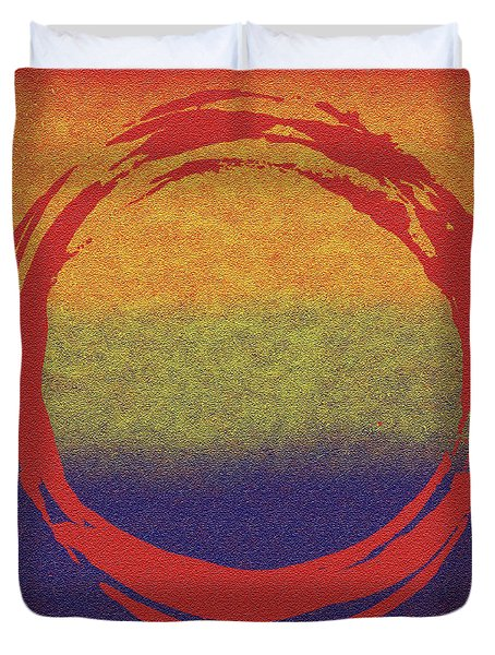 Enso 7 Duvet Cover by Julie Niemela