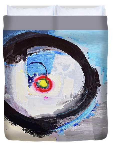 Enso Of Intimate Relationship Duvet Cover