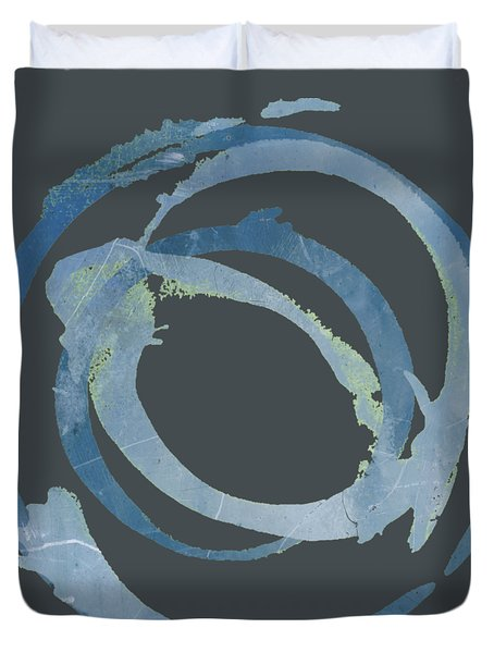 Duvet Cover featuring the painting Enso T Multi by Julie Niemela