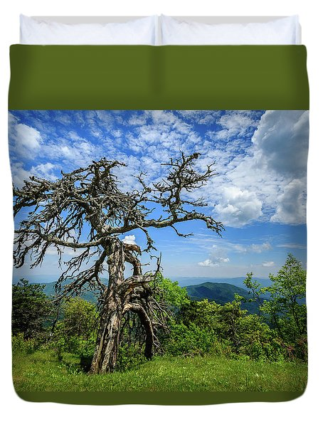 Ent At The Top Of The Hill - Color Duvet Cover