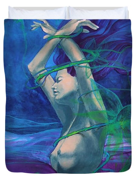 Entangled In Your Love... Duvet Cover by Dorina  Costras